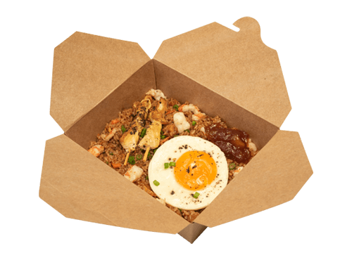 Nasi Goreng Served with Chicken Satay