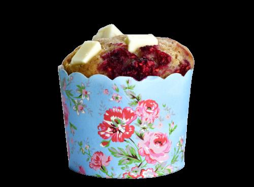 Raspberry White Chocolate Muffin