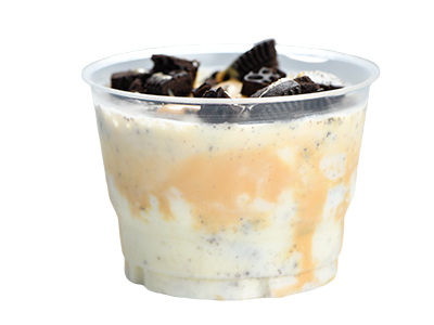Oreo and Caramel with Vanilla Ice Cream
