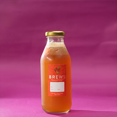 Mango and Strawberry Iced Tea
