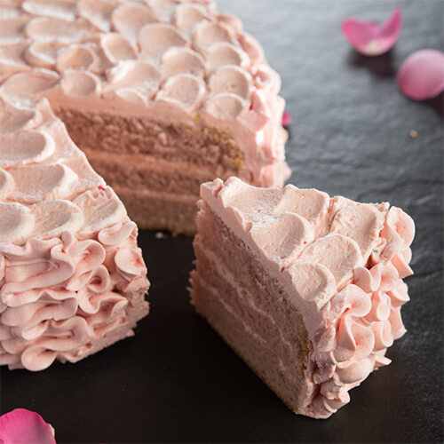 Rose with French Vanilla Cake